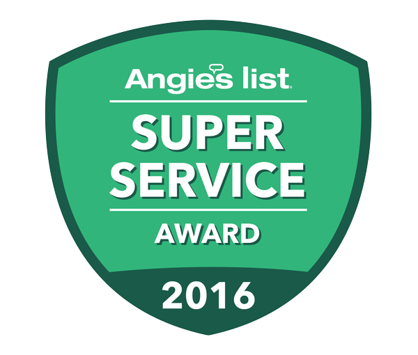 angies list award logo for super service