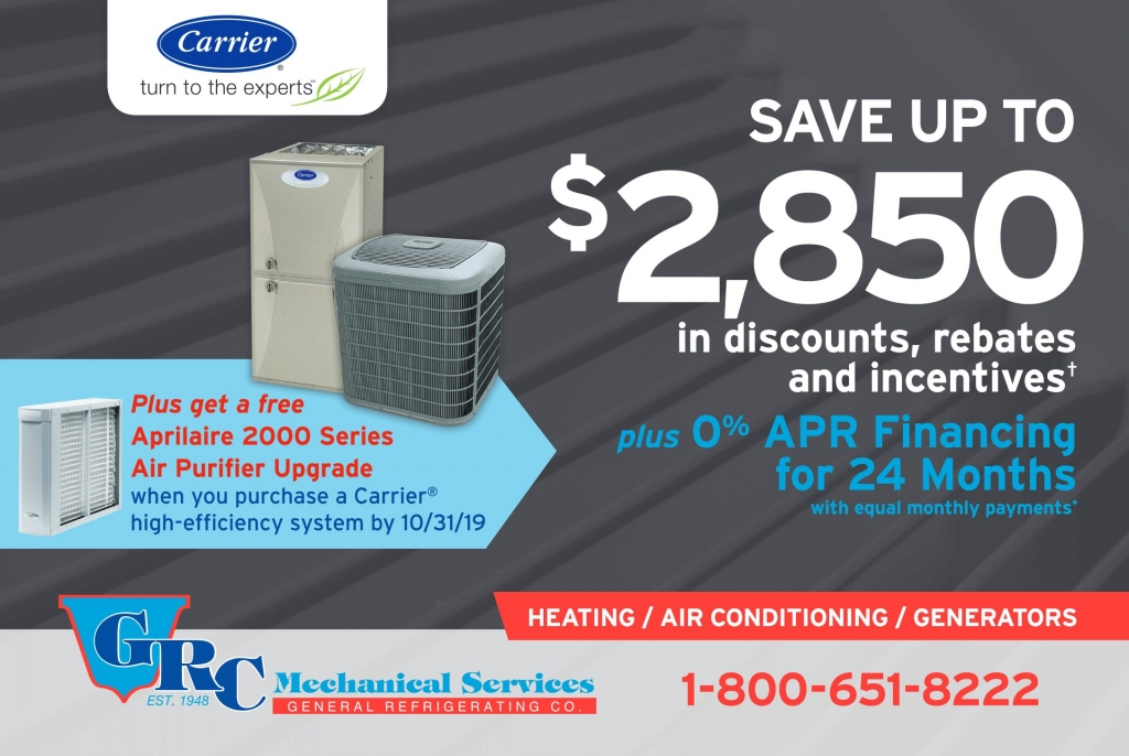 heating and AC system discount offer